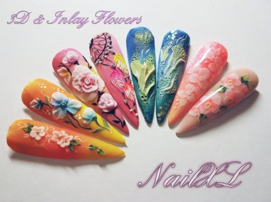 Nailart Workshop 3d Inlay Flowers Nail Xl Groothandel